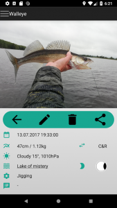 fish trace Fangstatistik App Fang