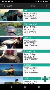 fish trace Fangstatistik App Fangstatistik