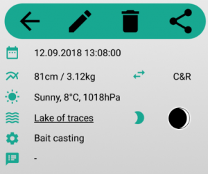 scr fishtrace fishing app android details