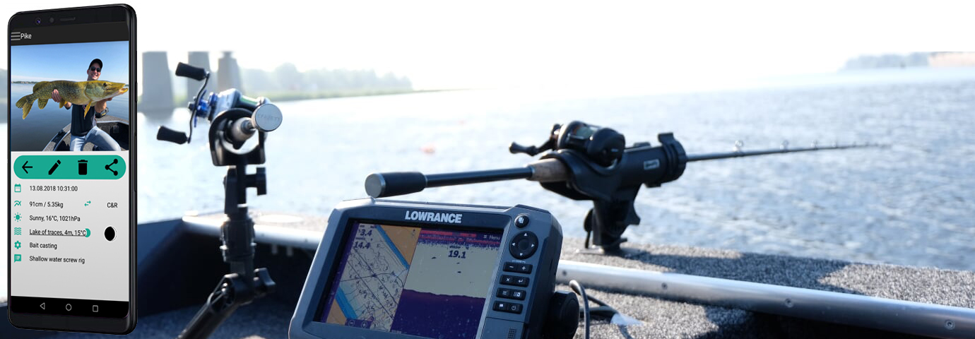 fish trace fishing logbook app in action