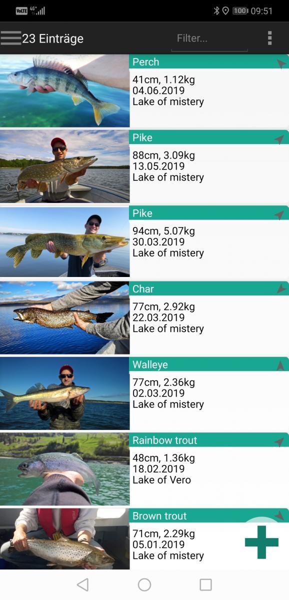fish trace Fangbuch App
