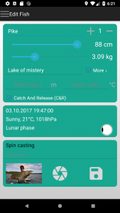 fish trace Fangbuch App erfassen