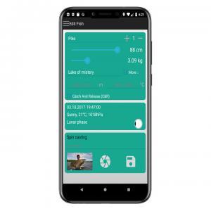fish trace fishing logbook app Add